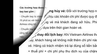 [etrip4u.com] Hủy vé máy bay Vietnam Airlines mất bao nhiêu tiền