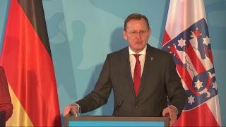 Ost-ministerpräsidentenkonferenz mit bundeskanzlerin merkel