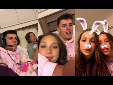 Maddie Ziegler, Jack Kelly, Mackenzie playing Fortnite