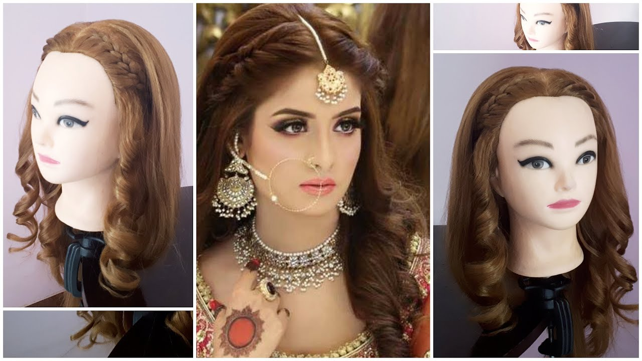 Kashee's Inspired Front Hairstyle With Curled Open Hair ...