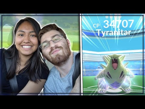 OUR FIRST LEVEL 4 TYRANITAR RAID BOSS IN POKEMON GO!