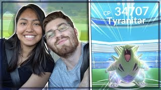 OUR FIRST LEVEL 4 TYRANITAR RAID IN POKEMON GO! thumbnail