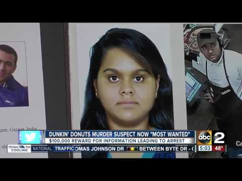 Dunkin' Donuts murder suspect now on FBI's 'Most Wanted' list