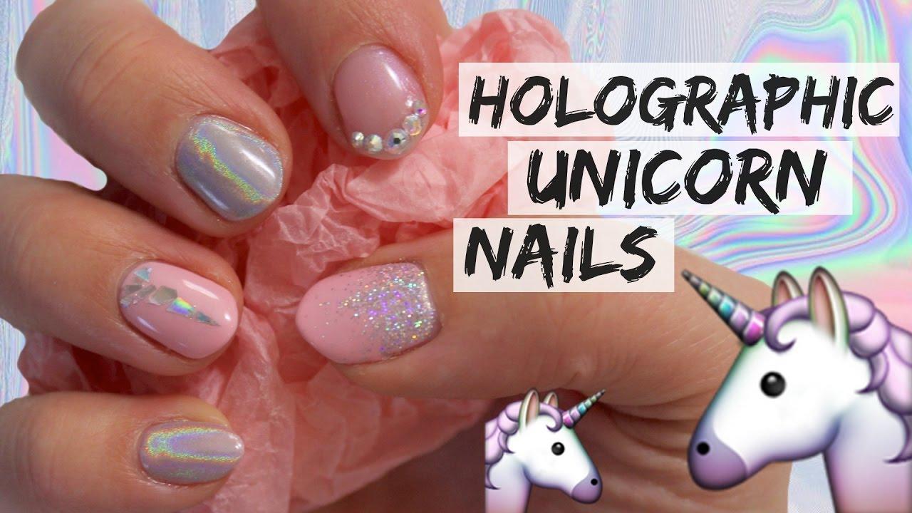 holographic unicorn nails chyaz