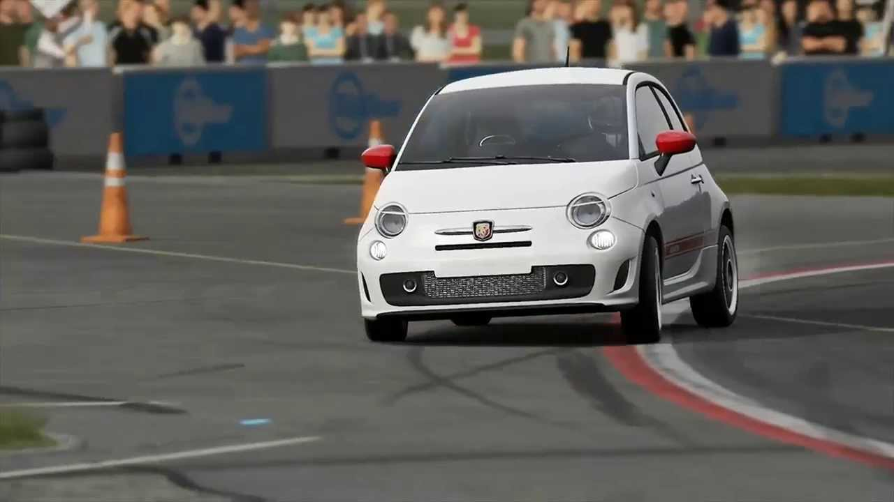 fiat 500 abarth top gear track - youtube