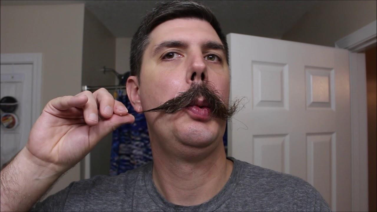 a8bd396d8db Handlebar Mustache with Dubs Stache Cream - YouTube