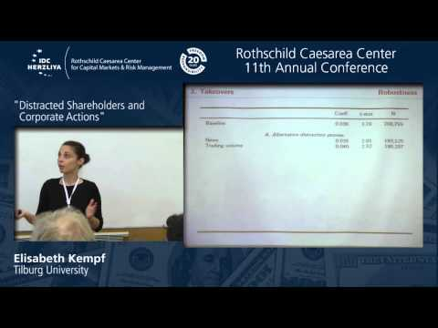 "Ph.D Candidate Elisabeth Kempf: ""Distracted Shareholders and Corporate Actions"""