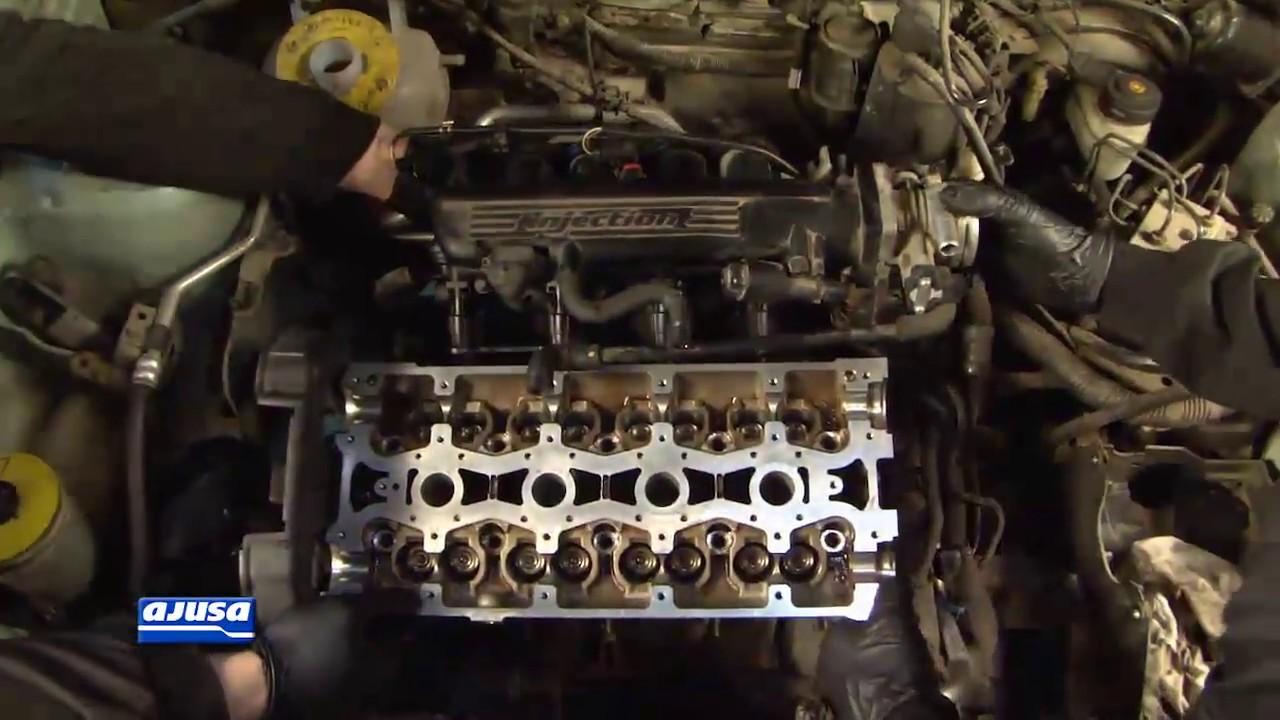 Water Pump Gasket >> Cylinder Head Gasket / Junta Culata - LAND ROVER FREELANDER 16V 1 8 18K16 . - YouTube