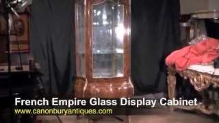French Empire Glass Display Cabinet