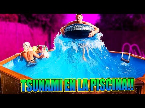 TSUNAMI EN LA PISCINA + THE FLOOR IS LAVA EN EL MCDONALDS!! (EL SUELO ES LAVA) ·itarte vlogs·