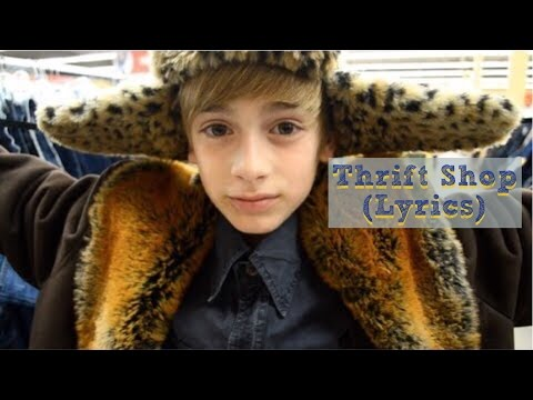Macklemore & Ryan Lewis- Thrift Shop (Lyrics) (Johnny Orlando cover) (2013)