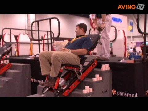 Ems Stair Chair Swing Gray Paramed To Showcase Its Powered Mov Youtube