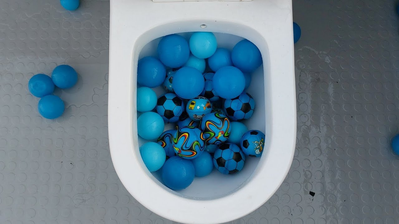 will it flush? sponge and blue plastic balls