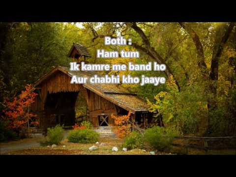 Hum tum ik kamre main band ho - Bobby - Full Karaoke with scrolling lyrics