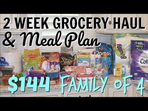 2 WEEK GROCERY HAUL AND MEAL PLAN // WALMART GROCERY PICKUP // EASY WEEKDAY MEALS