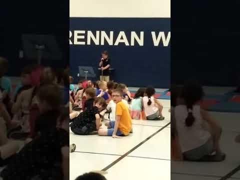 Brock Scherrer singing Lucas Graham- 7 years old