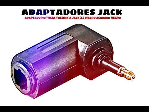 Video de Adaptador optical tosLink a jack 3.5 macho acodado  Negro