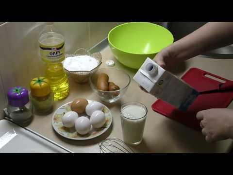 Как приготовить омлет с колбасой на сковороде