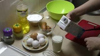 Омлет с колбасой на сковороде//Готовить легко, быстро и просто//Рецепт
