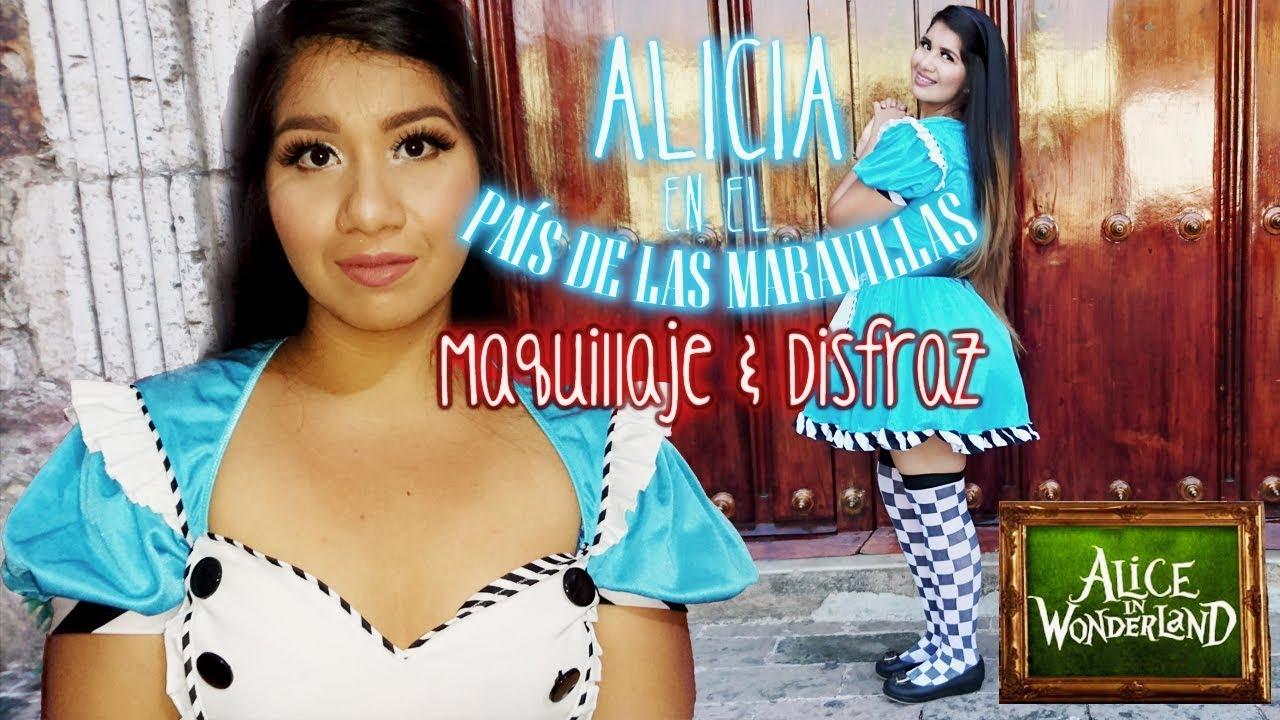f7936a7f1 Maquillaje y disfraz de Alicia en el país de las maravillas ...