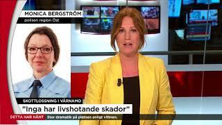Flera skottskadade i stort bråk i Värnamo - Nyheterna (TV4)
