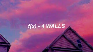 f(x) 에프엑스 '4 Walls' Easy Lyrics