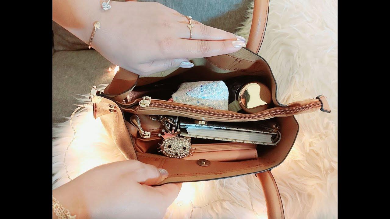 ماذا يوجد في حقيبتي للجامعة أو العمل 👜 كلشي شيك و كيوت 😍 👜asmr what's in my university bag