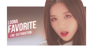 LOONA - favOriTe Line Distribution (Color Coded) | 이달의 소녀