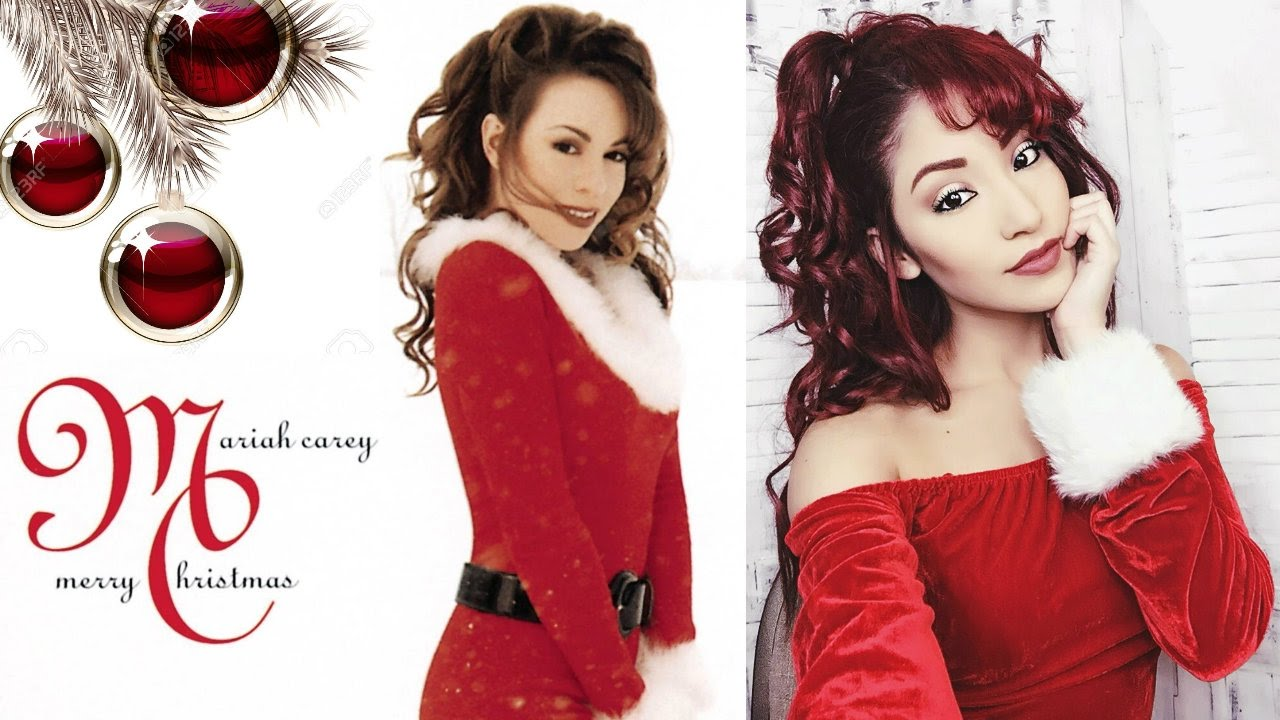 90s Mariah Carey Holiday Makeup and Hair Tutorial - YouTube