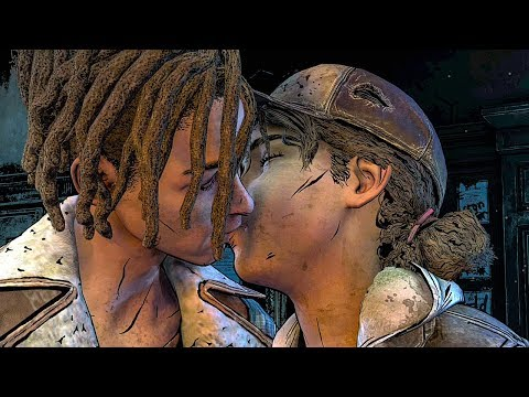 Clementine Kisses Louis Scene - THE WALKING DEAD Game Season 4 Episode 2 (The Final Season)