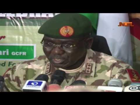 Nigerian Army Day Celebration Press Briefing by COAS TY Buratai