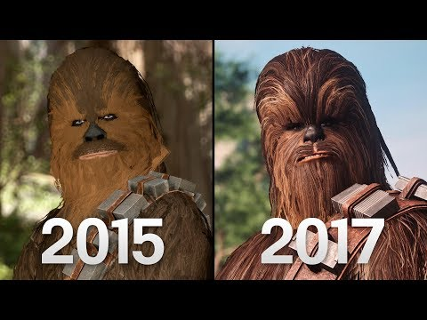 Chewbacca Battlefront 1 (2015) vs Battlefront II (2017) Graphics Comparison