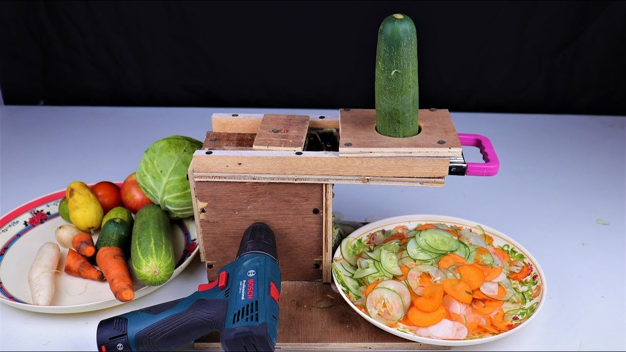 How To Make A Vegetable Slicer Machine At Home Diy Youtube