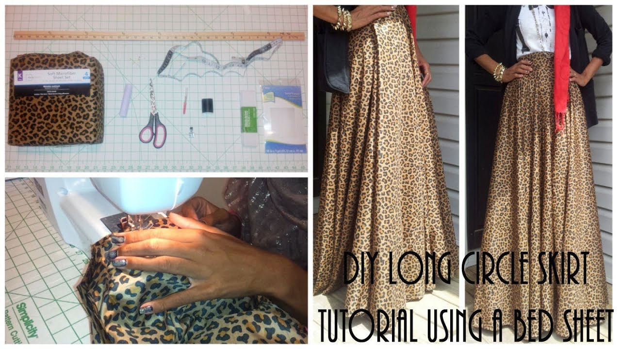 Nadira037 | DIY| Long Circle Skirt Tutorial Part 1 | Using ...