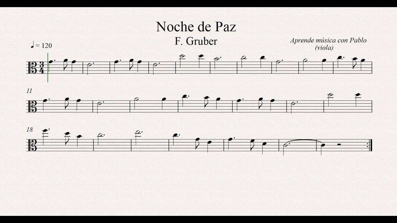 Noche De Paz Clave De Fa Trombón Chelo Fagot Contrabajo Partitura Playback Youtube