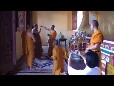 พระพุทธไสยาสน์ (วัดผาสุการาม อ.วาริน จ.อุบล) บรรยาย praboonma