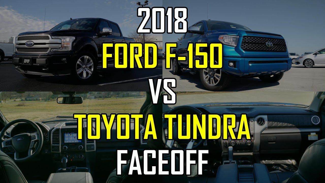 2018 Ford F-150 Platinum vs. 2018 Toyota Tundra Platinum: Faceoff Comparison