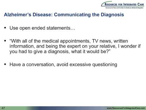 Presentation And Diagnosis Of Alzheimer's Disease