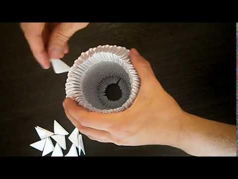 Вазы оригами из модулей схемы