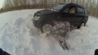 SuZuki GRAND VITARA в снегу