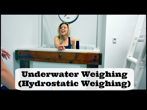 Hydrostatic Weighing (underwater weighing) Lab & Calculating Body Fat %