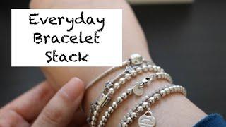 My Everyday Bracelet Stack: Pandora & Tiffany Jewelry