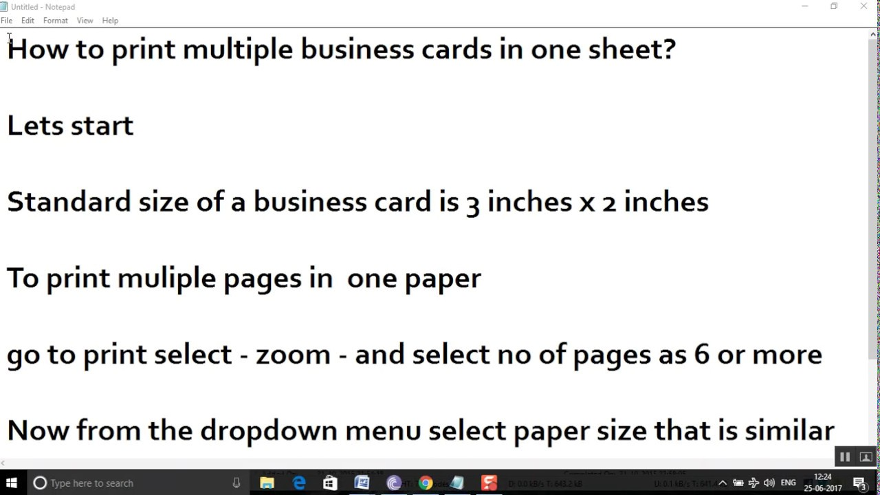 How to print multiple business cards in one sheet? - YouTube