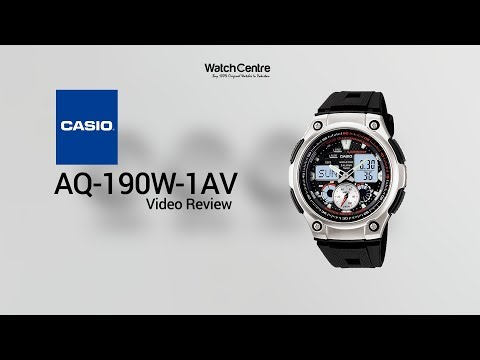 Casio AQ-190W-1AV World Time Men's Digital Watch Review