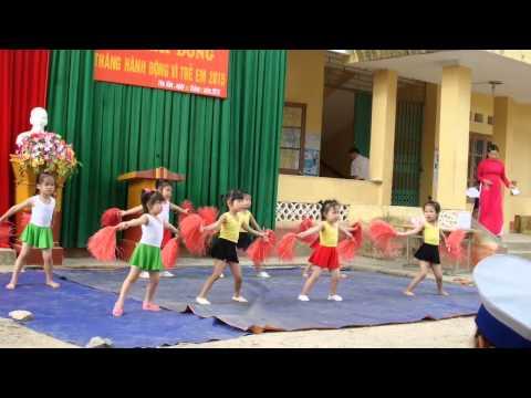 Múa Aerobic Con Cào Cào - Trường Mầm non Yên Hân