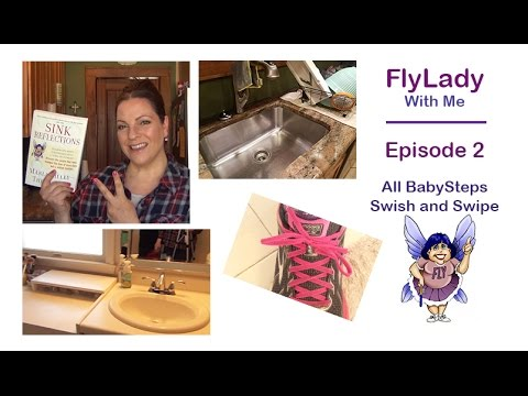 FlyLady With Me    Episode 2    Babysteps    Daily Swish and Swipe   