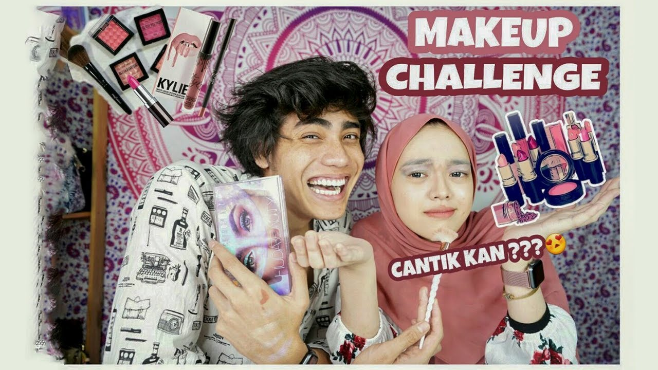 Download MAKEUP CHALLENGE WITH TIKTOK FAMOUS    ft SyasyaRushdiena (AKU PANDAI MAKE UP GUYS!!!)