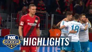 Guido Burgstaller gives Schalke the lead over Bayer 04 | 2016-17 Bundesliga Highlights