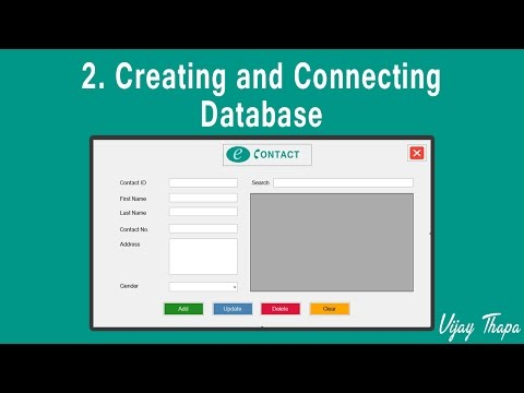 2 How to Create Simple C# Desktop Application? (Creating and Connecting Database)