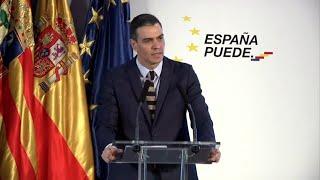 """Sánchez dice que España es """"el noveno país del mundo en vacunación"""""""